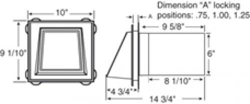 152-мм вентиляционная отдушина