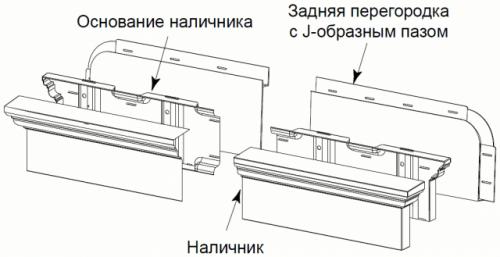 задняя перегородка с J-образным пазом  152мм х 1667мм