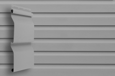 Виниловый сайдинг Grand Line Классика Корабельный брус слим (Серый), 3,0