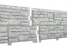 Фасадные панели Ю-Пласт Стоун Хаус Сланец Светло-серый