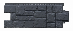 Фасадная панель GRAND LINE Крупный камень (Графит), 1,10м