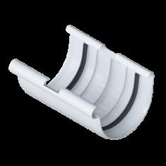 Муфта желоба для водосточной системы белая