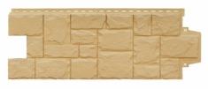 Фасадная панель GRAND LINE Крупный камень (Песочный), 1,10м