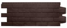 Фасадная панель GRAND LINE Состаренный кирпич (Коричневый), 1,10м
